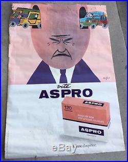 1,73m/1,18m affiche publicitaire VITE ASPRO design SAVIGNAC poster advertising
