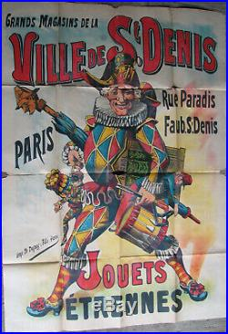 1 X Affiche Jouets / Etrennes. Ville De St Denis. Paris. 99,7 X 138,5 CM