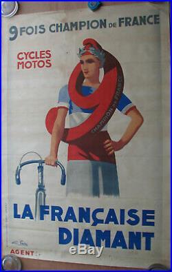 1 X Affiche La Francaise Diamant. Format 118 X 80 Cm. Non Entoilee