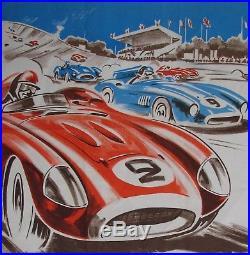 1 X Affiche. Prix De Paris. 1957. Autodrome De Linas Montlhery. Geo Ham