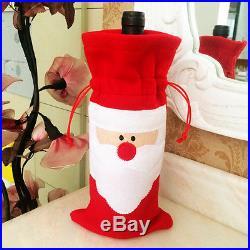 1× mignon bouteilles de vin de Noël Cover Décoration Decor Parti Cadeau