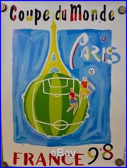 11 AFFICHES COUPE du MONDE FOOTBALL 1998 très bon état