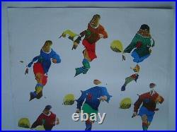 15 x AFFICHE ART original FOOTBALL FUTBOL / MUNDIAL ESPANA 1982 / MIRO FOLON
