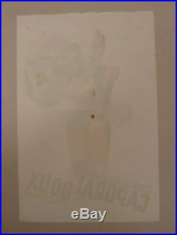 1930 ART DECO AFFICHE ANCIENNE CAPORAL -CIGARES CIGARETTES SIGNÉE