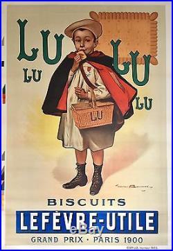 1ère Version de la Rarissime Affiche Lefèvre-Utile signée Firmin Bouisset 1900