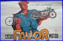 2 affiches cycles motos Favor par Bellenger