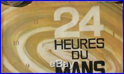 24 Heures Du Mans. 1963. 1 X Affiche. D'origine. 39 X 58,5 Cm. Etat D'usage