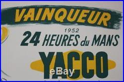 24 heures du MANS 1952 original POSTER affiche PANHARD MONOPOLE YACCO Hemard