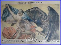 4e Emprunt National Crédit Lyonnais Abel Faire AFFICHE ORIGINALE ANCIENNE/PR37