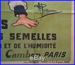 A. Guillaume Affiche Original Semelline Soldat pitrerie Militaire Vers 1898