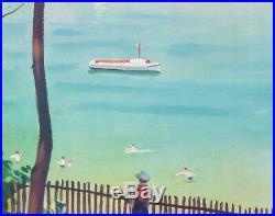 A Marquet Arcachon Vacances Tourisme Sante 102x63 CM Affiche Entoilee