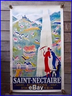 AFFICHE 1930 SAINT-NECTAIRE R. De VALERIO-ART DECO