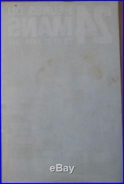 AFFICHE 24 HEURES DU MANS. 1964. FORMAT 58 X 38,5 CM