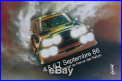 AFFICHE 38e CHAMPIONNAT FRANCE RALLYE MONT BLANC sept 1986 RENAULT 5 TURBO 1 2