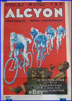 AFFICHE ALCYON. FORMAT 58 X 40 CM. BEL ETAT