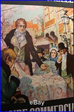 AFFICHE ANCIENNE 3e FOIRE BRUXELLES tissus Fernand TOUSSAINT Belgique 1922