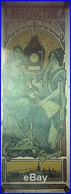 AFFICHE ANCIENNE BENEDICTINE DE L'ABBAYE DE FECAMP. 1898 par MUCHA
