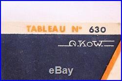 AFFICHE ANCIENNE MARCHAL BOUGIE SPARK garage plaque émaillée 1956 A. KOW VALEO