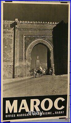 AFFICHE ANCIENNE MAROC OFFICE MAROCAIN DU TOURISME RABAT VINTAGE POSTER ci 1950