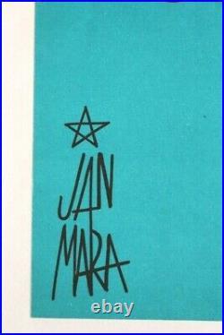 AFFICHE ANCIENNE ORIGINALE BENTLEY'S CLUB DINER SPECTACLE RIRE signée JAN MARA