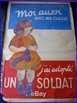 AFFICHE ANCIENNE ORIGINALE EN COULEUR GUERRE 14-18 imprimerie bedos Paris
