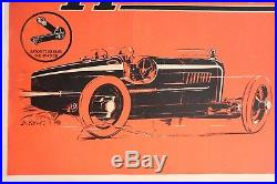 AFFICHE ANCIENNE ORIGINALE HARTFORD AMILCAR Alexis KOW cyclecar Shock absorber