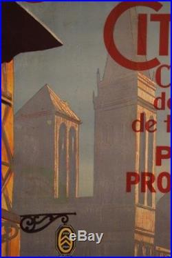 AFFICHE ANCIENNE ORIGINALE La CARAVANE CITROEN PIERRE LOUYS 1924 CIJ