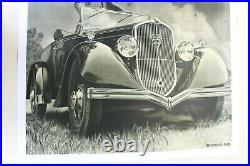 AFFICHE ANCIENNE ORIGINALE PEUGEOT 301 Cabriolet 1934 1932-36 DRAEGER entoilée