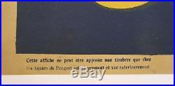 AFFICHE ANCIENNE ORIGINALE PEUGEOT comme plaque émaillée 1920-30 120 x 160 CM