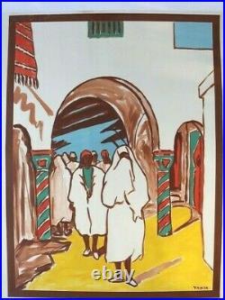 AFFICHE ANCIENNE ORIGINALE TOURISME VISITEZ la TUNISIE YAHIA 1950