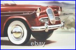 AFFICHE ANCIENNE ORIGINALE automobile SINGER GAZELLE Humber Sunbeam Hillman Minx