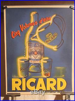AFFICHE ANCIENNE RICARD DECO FLUO
