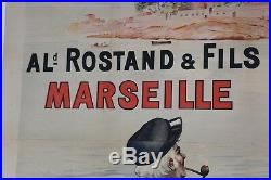 AFFICHE ANCIENNE SAVON LE NATUREL MARSEILLE ROSTAND La SCAD L'OREAL soap poster