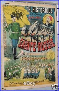 AFFICHE ANCIENNE THÉTRE HISTORIQUE SPECTACLE SAINTE-RUSSIE ci 1895 1900