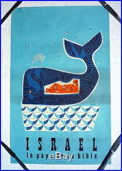 AFFICHE ANCIENNE TOURISME ISRAEL