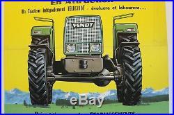 AFFICHE ANCIENNE TRACTEUR Téléguidé FENDT 1971 ESTERNAY MOUERS Marne agricole