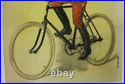AFFICHE ANCIENNE Vélo CYCLES ROCHET (SCHNEIDER) 1910 LYON MILITAIRE O. PICHAT