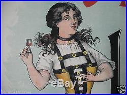 AFFICHE ANCIENNE original poster 1900 LITHO apéritif La MASCOTTE ALBI TARN 81