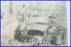 AFFICHE AUTOMOBILE AC COBRA BRISTOL ACECA CIRCUIT REMPART ANGOULEME sign BOIVENT