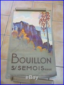 AFFICHE BELGE BELGIQUE BOUILLON S/SEMOIS (DUPUIS Emile, impr. Bénard) circa 1930