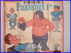 AFFICHE CINÉMA FERNANDEL FRANÇOIS 1er 120x160 cm, Réalisé en 1937 (ref 56)