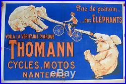 AFFICHE CYCLES / MOTOS. THOMANN. FORMAT 80 X 120 CM