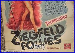 AFFICHE DE CINEMA ANCIENNE ZIEGFELD FOLLIES 160 CM X 118CM