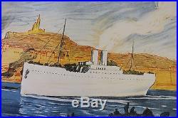 AFFICHE Emprunt Vieux Port Marseille Société Marseillaise Crédit Bonne Mère WW1
