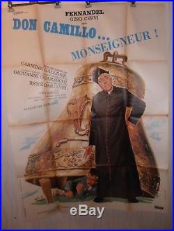 AFFICHE FERNANDEL DON CAMILLO 120x160 cm Réalisé en 1955 ref 56