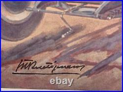 AFFICHE GEO HAM contre signée par Maurice TRINTIGNAN Repro des Années 1970 / 80