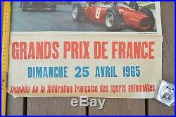 AFFICHE GRAND PRIX AUTOMOBILE DE PAU 1965 Affiche originale, pas une reproducti