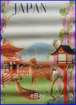 AFFICHE JAPAN. JAPANESE GOVERNMENT RAILWAYS. FORMAT 97 X 63 CM