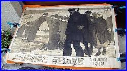 AFFICHE JOURNÉE SERBE 1916 MOURGUE WWI GUERRE 1914 1918 Original