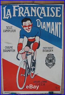 AFFICHE LA FRANCAISE DIAMANT. FORMAT 58,5 X 39,5 CM